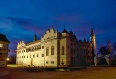Schloss Litomysl beim Ewening CZ Stockfotografie