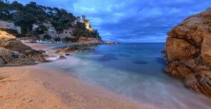 Schloss, Lloret De Mrz, Costa Brava, Spanien stockfotografie