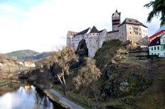 Schloss Loket stockfotografie