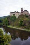 Schloss Loket, Tscheche, Europa Stockfotografie