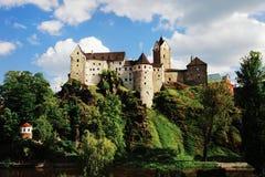 Schloss Loket, Tschechische Republik Stockbilder