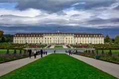 Schloss Ludwigsburg adornado para el festival Autumn Octobe de la calabaza Foto de archivo libre de regalías