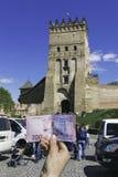 Schloss in Lutsk stockbild