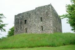 Schloss in Lydford Lizenzfreie Stockfotos