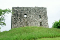 Schloss in Lydford Stockbilder