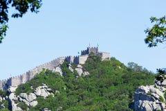 Schloss macht vorbei in Sintra, Portugal fest stockfoto