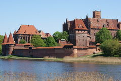 Schloss in Malbork Stockfotografie