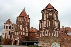 Schloss in MIR in Belarus Lizenzfreie Stockbilder