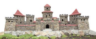 Schloss mit Kontrolltürmen Stockbilder