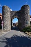 Schloss-Morgenstadtgatter Lizenzfreie Stockfotos