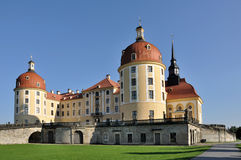 Schloss moritzburg, dresden. View from north of the famous baroque castle  in the surrounding of dresden Stock Photography