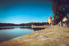 Schloss Moritzburg w Drezdeńskim obrazy royalty free