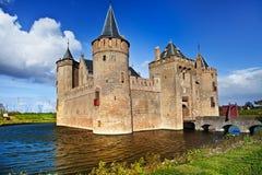 Schloss muiderslot - die Niederlande lizenzfreies stockbild