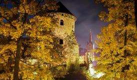 Schloss nachts stockbild
