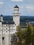 Schloss Neuschwanstein, przodu wierza Fotografia Royalty Free