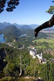 Schloss Neuschwanstein und hohenschwangau Stockbild
