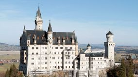 Schloss Neuschwanstein, von Pollatbridge stock video footage