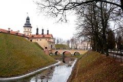 Schloss in Niasvizh. Das Republic Of Belarus. stockfotos