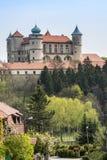 Schloss Nowy Wisnicz nahe Krakau in Polen Stockbilder