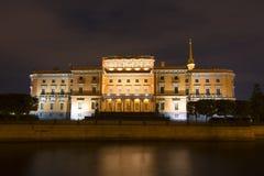 Schloss oder Ingenieure St- Michael` s Schloss Mikhailovsky ` Schloss nachts, St Petersburg, Russland Stockfoto