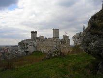 Schloss Ogrodzieniec lizenzfreie stockfotografie