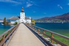 Schloss Ort, замок в Gmunden, Австрии, Европе Стоковые Фотографии RF
