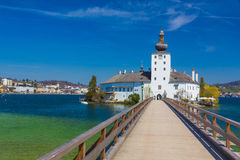 Schloss Ort, castello in Gmunden, Austria, Europa Immagine Stock