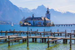 Schloss Ort, castle in Gmunden, Austria, Europe Royalty Free Stock Images