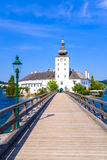 Schloss Ort. Or the Ort Castle located on the Traunsee lake in Gmunden, Austria Royalty Free Stock Images