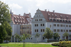 Schloss Osterstein, Zwickau. Renewed Renaissance-building, long time used as prison Stock Image