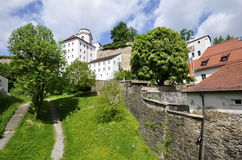 Schloss in Passau Stockfotografie