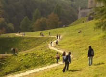 Schloss Pieskowa Skala lizenzfreies stockbild