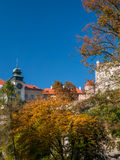 Schloss in Pieskowa Skala Stockfotografie