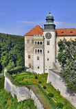 Schloss Pieskowa Skala in Polen Stockfotos