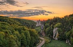 Schloss Pieskowa Skala, Polen Stockfoto
