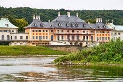 Schloss Pillnitz i Dresden, Sachsen Arkivfoton