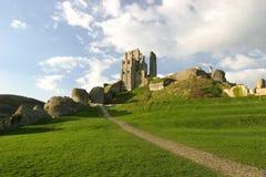 Schloss-Ruinen Stockfoto