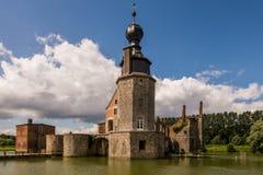 Schloss-Ruinen des Chateaus Havré in Belgien Lizenzfreie Stockfotografie