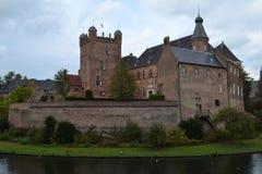 Schloss in ` s Heerenberg in Achterhoek Lizenzfreie Stockfotos