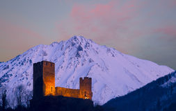 Schloss Sainte-Marie, Luz-Heiliges-Sauveur, Midi-Pyrenäen. Lizenzfreies Stockfoto