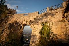 Schloss in San Marino stockfoto