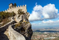 Schloss in San Marino Stockfoto
