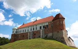 Schloss in Sandomierz, Polen Stockbild