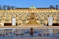 Schloss Sanssouci, Potsdam, Duitsland royalty-vrije stock afbeelding