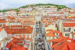 Schloss-Sao Jorge in Lissabon, Portugal Lizenzfreies Stockbild
