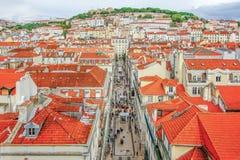 Schloss-Sao Jorge in Lissabon, Portugal Stockfotografie