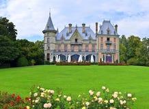 Schloss Schadau,图恩,瑞士全景  免版税库存照片