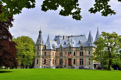 Schloss Schadau,图恩,瑞士后侧方  免版税库存照片