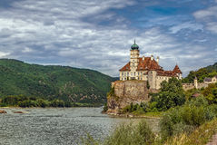 Schloss Schonbuhel, Austria. Schloss Schonbuhel is a castle in the Lower Austrian on the right bank of the Danube. The origins of the castle date from the early Stock Photos