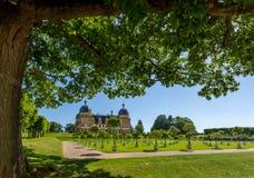 Schloss Seehof梅梅尔斯多尔夫-德国 免版税库存图片